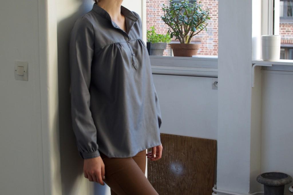 Petites broutilles blouse bleue  - 2