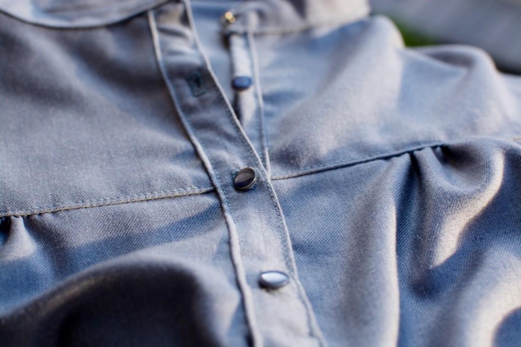Petites broutilles blouse bleue  - 3