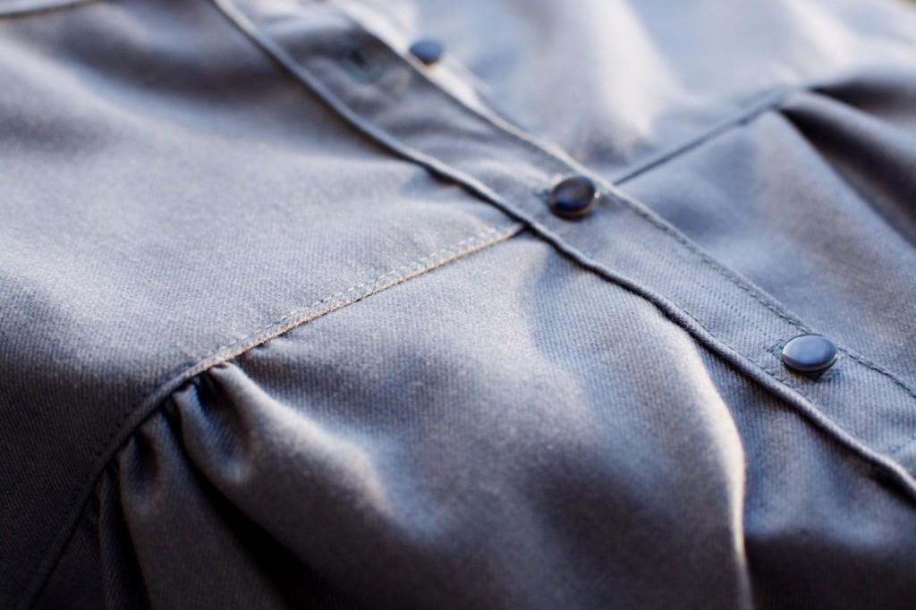 Petites broutilles blouse bleue  - 4